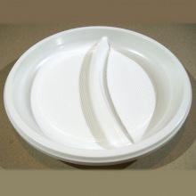 пластиковая тарелка 2-секционная