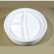 одноразовая тарелка 3-секционная