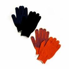Перчатки  Х/Б, черные и оранжевые