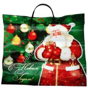 Пакет с пластиковыми ручками Дед Мороз