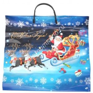 Пакет с пластиковыми ручками Санта Клаус