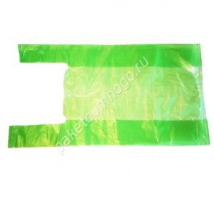 зелёный пакет-майка без рисунка