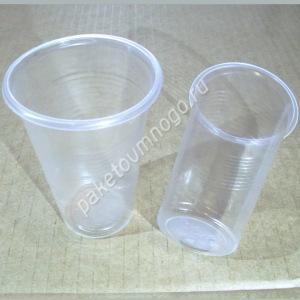 прозрачные пластиковые стаканы 200 мл