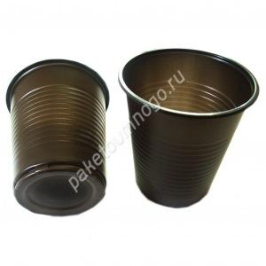 Пластиковый стакан ПП 500 «Бочонок» коричневого цвета