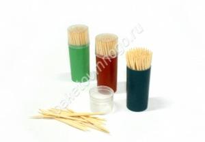Зубочистки в пластиковой банке (80 шт)