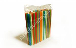Трубочка для напитков с изгибом, цветная ViOR 8*240